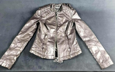 XS Womens Express Faux Leather Jacket
