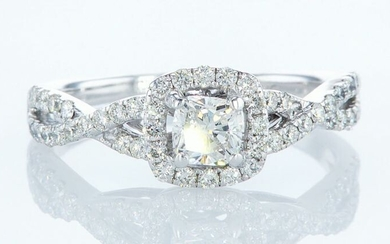 14 kt. White gold - Ring - 1.10 ct Diamond - Diamonds
