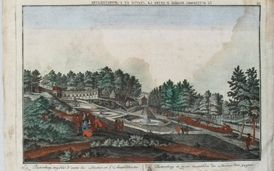 1750 Probst View of a Park by Butterberg Hill in