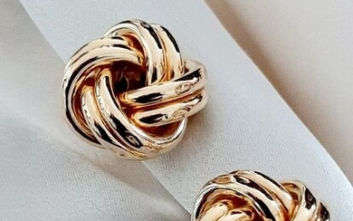 18 kt. Yellow gold - Double-knot Earclips 13.0gr Italy