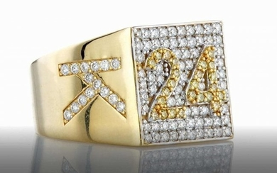18K YELLOW GOLD KOBE BRYANT RING