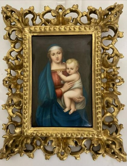 19TH C. GERMAN PORCELAIN PLAQUE