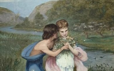 19TH CENTURY FRENCH FLOWER PAINTING BY ESCUDIER