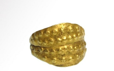 Viking Gold Ring with Punched Decoration, 11th Century