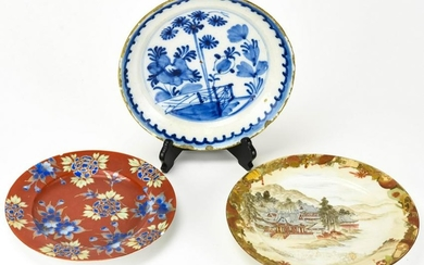 3 Chinese Hand Painted Porcelain Dishes
