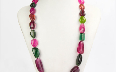 480 Carats - Tourmalines Tops !!! Sasso Necklace - 20×20×520 mm - 96 g