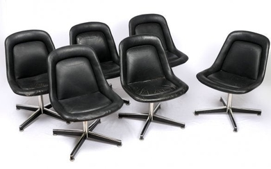 6 MID-CENTURY KNOLL DINING CHAIRS