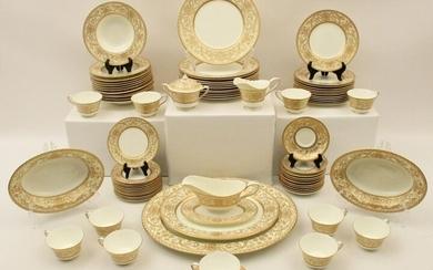 78 PC ROYAL WORCESTER DINNER SERVICE EMBASSY PATTERN