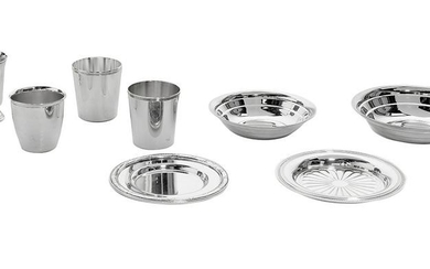 8 Pieces of Christofle Silverplate Tableware