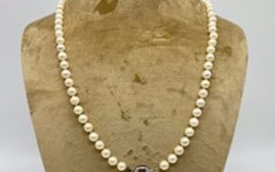 8 kt. Akoya pearl - Necklace