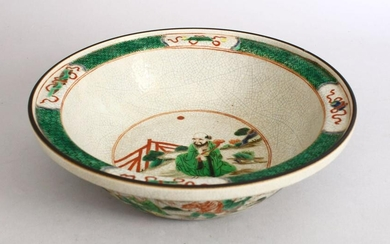 A 19TH / 20TH CENTURY CHINESE FAMILLE VERTE PORCELAIN