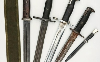 A COLLECTION OF GERMAN AND AMERICAN BAYONETS