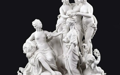 A French Sevres Bisque Porcelain Figural Group.
