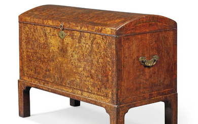 A GEORGE II WALNUT COFFER, CIRCA 1730