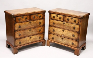 A GOOD PAIR OF GEORGE II STYLE WALNUT BACHELOR'S