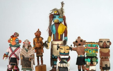A Group of Colorful Hopi Katsinas