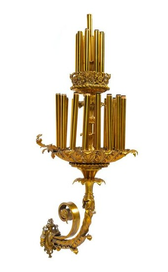 A Large Neoclassical Gilt Metal Sconce