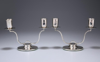 A PAIR OF GEORGE VI SILVER TWO-LIGHT