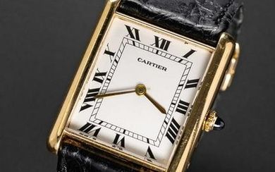 A RARE GENTLEMAN'S LARGE SIZE 18K SOLID GOLD CARTIER
