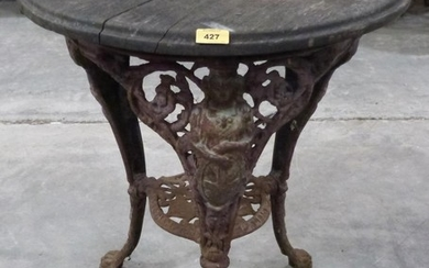 A Victorian cast iron pub table by Palliser's of Wolverhampt...