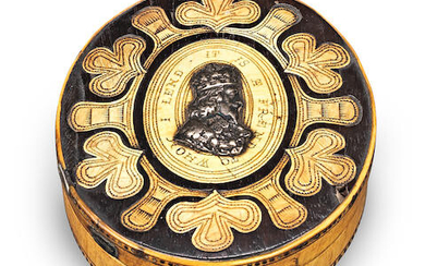 A late 17th/early 18th century and later cedar, horn and bone-inlaid tobacco box, English, circa 1660-1715