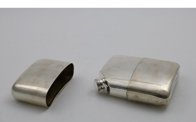 AN EARLY 20TH CENTURY SCOTTISH SPIRIT FLASK of rounded, rect...