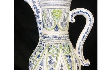 AN RARE, LARGE AND FINE 18TH CENTURY TURKISH KUTAHTA POTTERY...