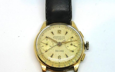 ANCORA de LUXURY. WATCH BRACELET CHRONOGRAPH in yellow gold, with two sub-dials. Gross weight 37 g