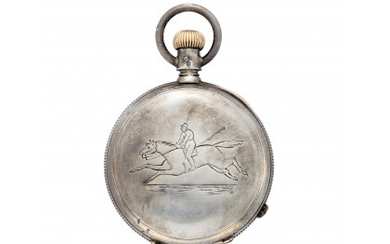 ANONYMOUS Gent's silver savonnette pocket watch Early 20th century Manual...