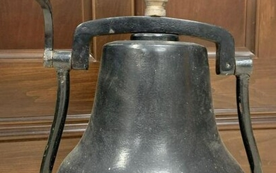 Antique Cast Iron Bell on Stand