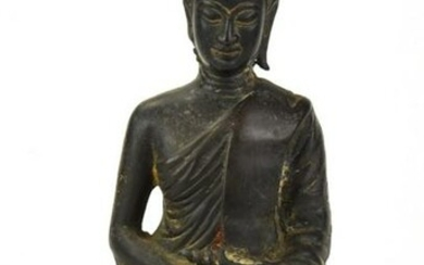 Antique South East Asian Bronze Clad Buddha Statue