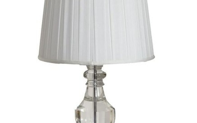 Antiques, Contemporary Clear Lamp, Lucite Lamp Base