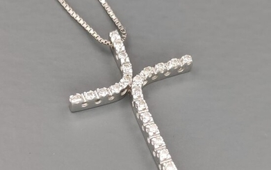 Armonie - 18 kt. White gold - Necklace with pendant - 0.22 ct Diamond
