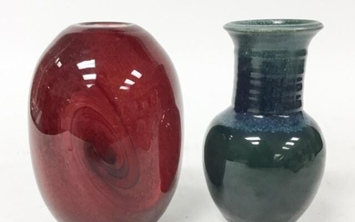 Art Glass Vase & Art Pottery Vase