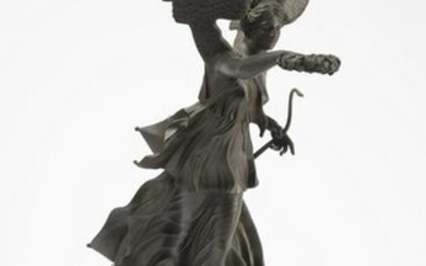 Bronze Winged Figure on marble base