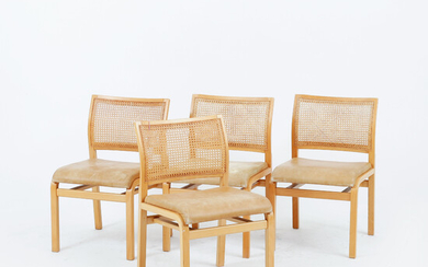 CHAIRS, 4 pcs, Dux, second half of the 20th century.