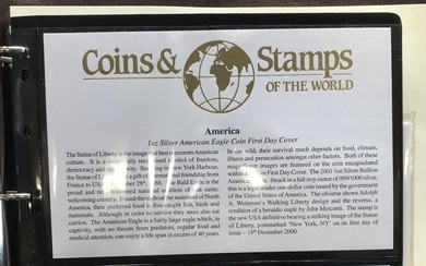 COIN COVERS: Two albums with the collection of GB & Worldwid...