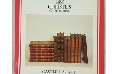 Christies catalogue of Library of Rare Books at Castle Hacke...