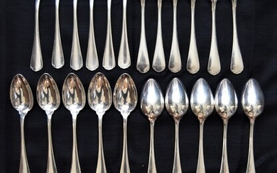Christofle - Box of 12 forks and 12 tablespoons (24) - Silver plated