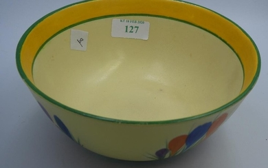 Clarice cliff bowl in the crocus pattern