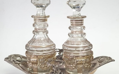 Cruet stand - .900 silver - France - Second half 18th century