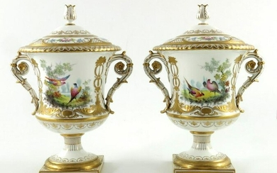 Cuthbert Gresley for Royal Crown Derby, a pair of