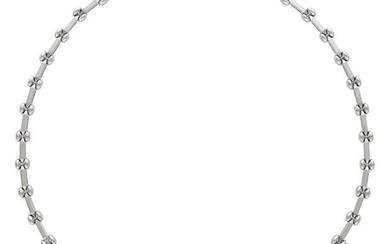 """DIAMOND WHITE GOLD NECKLACE""L42.8 cm, 32.4 g"