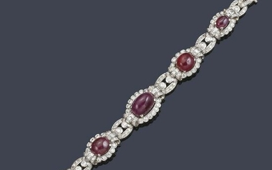 Diamond bracelet, approx. 5.20 ct in total, and