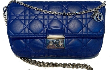 Dior Blue Cannage Quilted Leather Miss Dior Bag