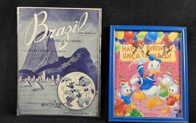 Disney BRAZIL SALUDOS AMIGOS SHEET MUSIC From 1942 And