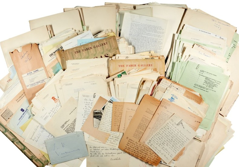 E. Kästner. Highly important archive of correspondence to and from his publisher Kurt Maschler, 1945-1972