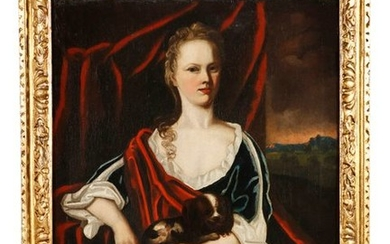 ENGLISH SCHOOL (18TH CENTURY)Portrait of a lady seated,...
