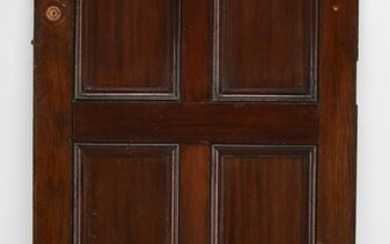 "Early 20th c.solid mahogany architectural panel, 55""h"