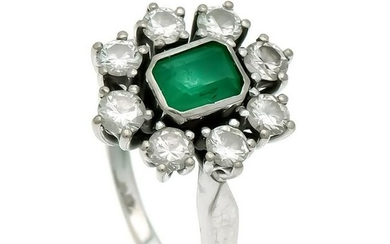 Emerald-Brilliant-Ring WG